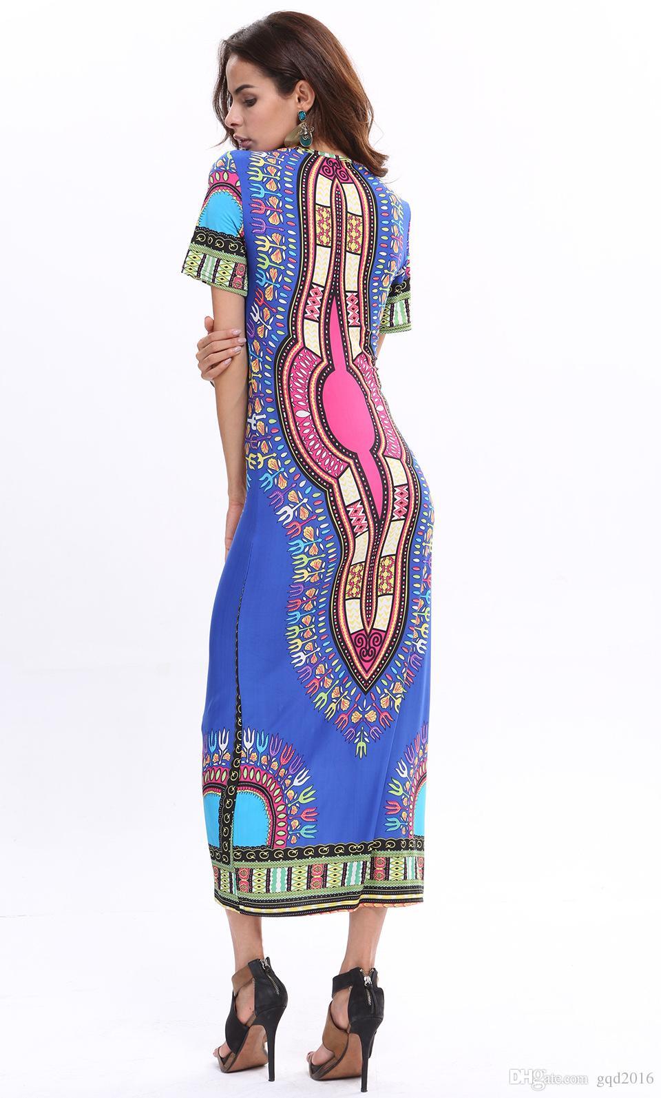 2016 Summer Women Casual Sexy Dress Women High Slit Dress Sundress ...