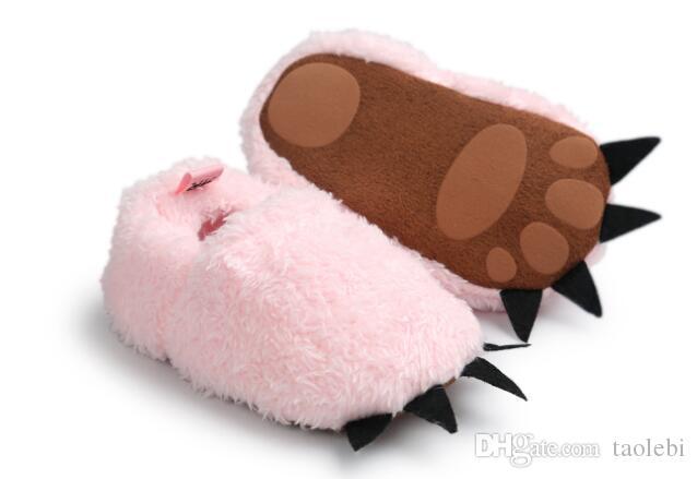 / grossist monster design baby skor mode tecknad film baby första vandrare vinter prewalker varm och söt baby skor mix färger