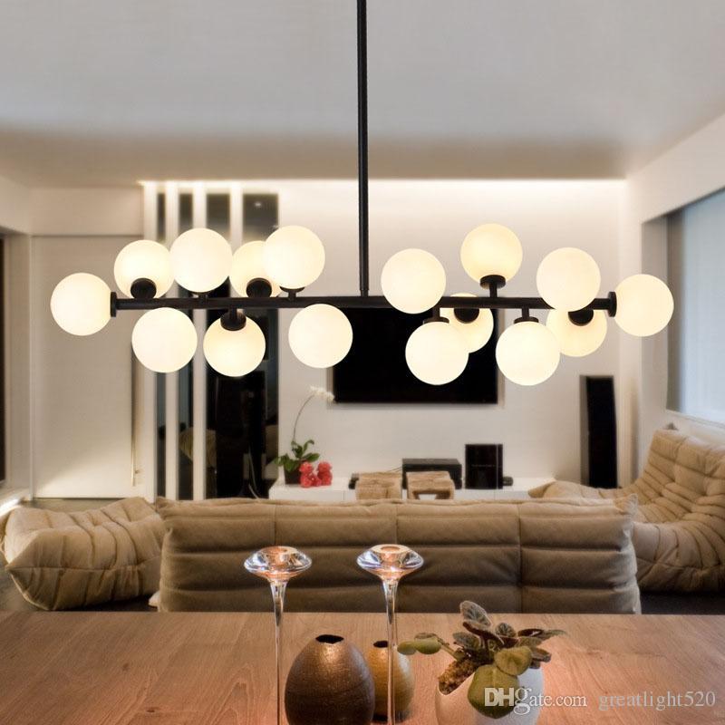 Magic Bean G4 LED Milch-Glas-Pendelleuchte Globe Kugel Lampshade Art Droplight-Beleuchtungskörper