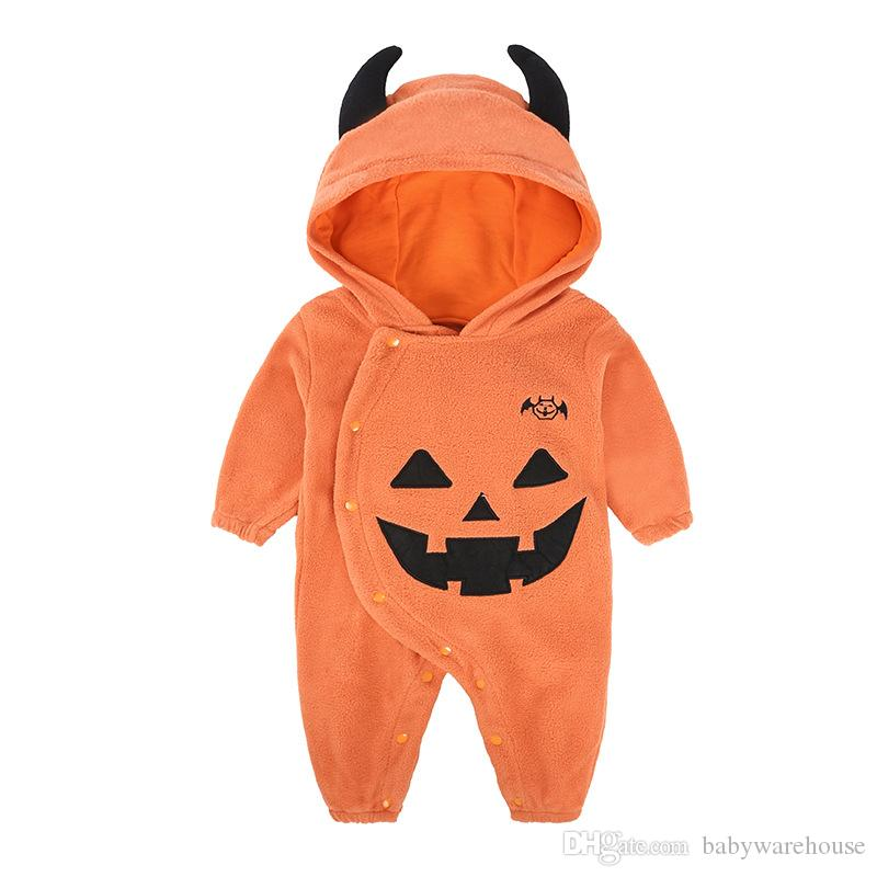 Autumn Winter Halloween Clothes Baby Boys Girls Clothes Long Sleeve Bodysuit Romper Jumpsuit Baby Clothes Newborn One-piece Kids Clothing