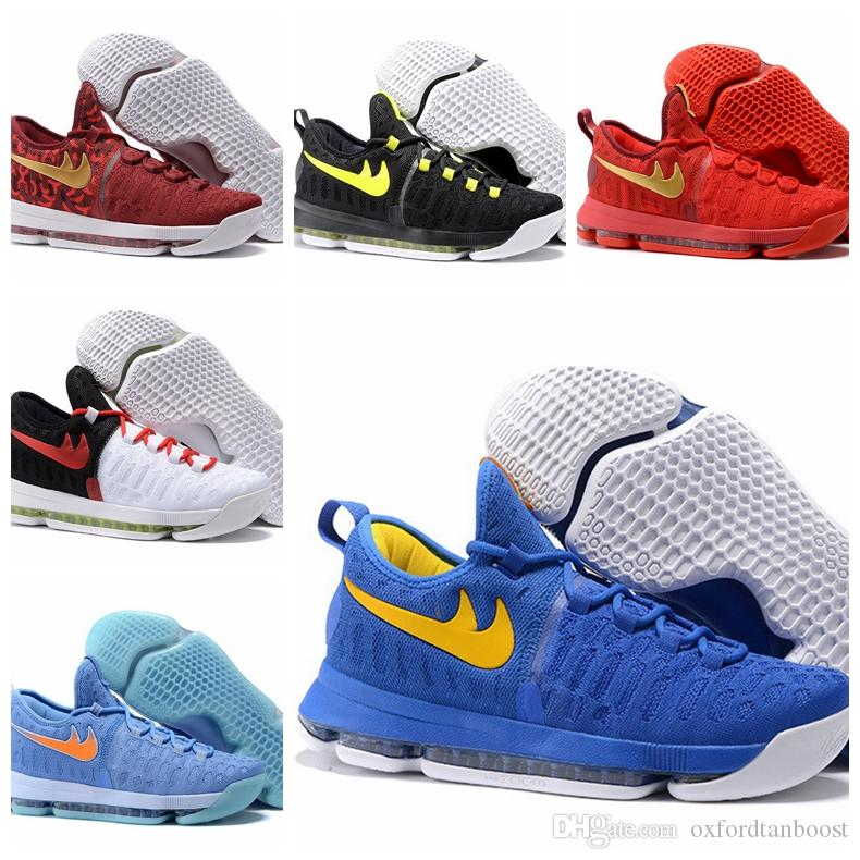 2016 mens kevin durant kd ix basketball shoes kd 9 zoom sneakers 40 46 warriors home china red rio n