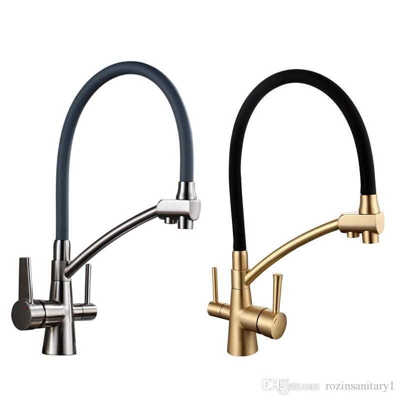 2018 Kitchen Faucet Water Filter Taps Mixer Kitchen Taps Mixer Sink Faucets  Water Purifier Taps Kitchen Mixer Filter From Rozinsanitary1, $155.78 |  Dhgate.