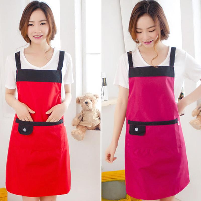 Restaurant Kitchen Aprons women apron korean waiter aprons with pockets restaurant kitchen
