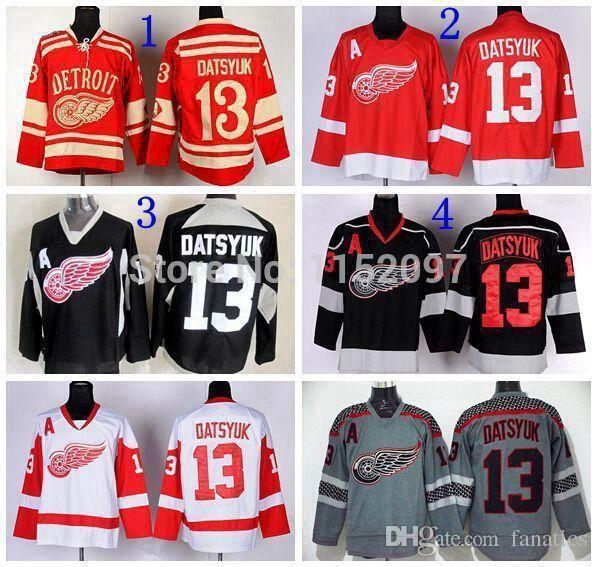 6374626ea69 2019 Detroit Red Wings Pavel Datsyuk Jersey  13 Men'S Red Black Grey White  Ice Hockey Jerseys Cheap Datsyuk Winter Classic Jerseys From Fanatics