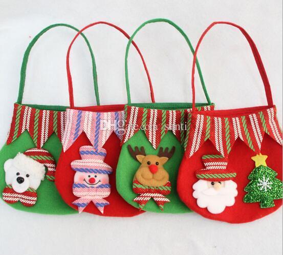 Silvester Weihnachten Weihnachtsmann Kinder Süßigkeiten Geschenk Taschen Handtasche Beutel Hochzeit Sack Geschenk Tasche Weihnachtsdekoration Cute Santa
