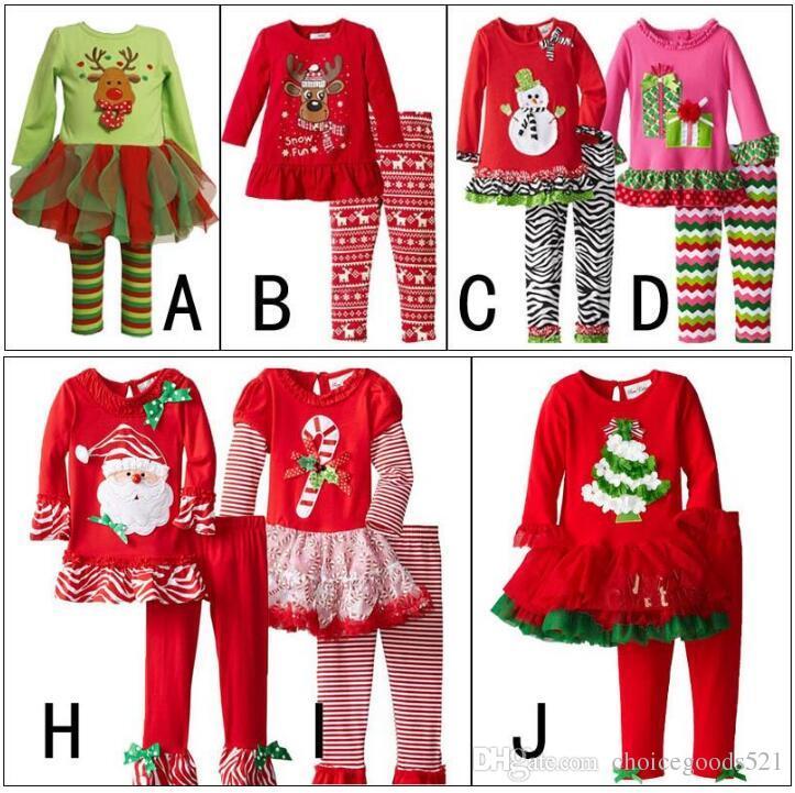 13fc795fb8 Christmas Outfits Girls Christmas Clothing Sets Snowman Santa Claus Long  Sleeve T Shirt + Pants Set Christmas Pyjamas For Children Toddler Boys  Pajamas From ...