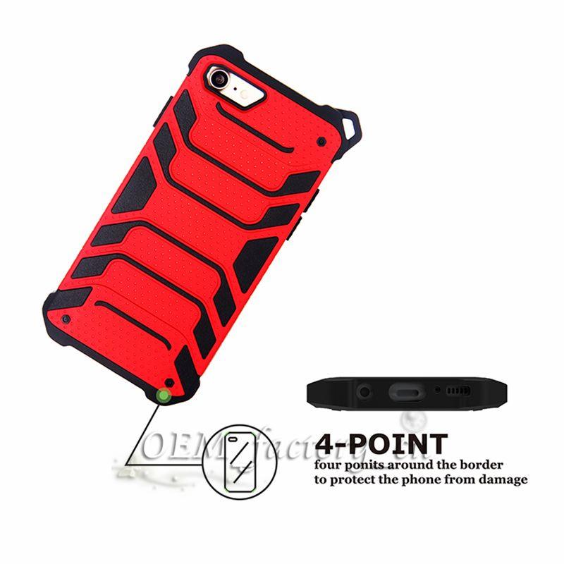 Pour Galaxy Note 8 Cas Hybride PC TPU Armure Couverture Arrière de Téléphone Portable avec Corde Sangle pour iPhone X avec Emballage de Détail