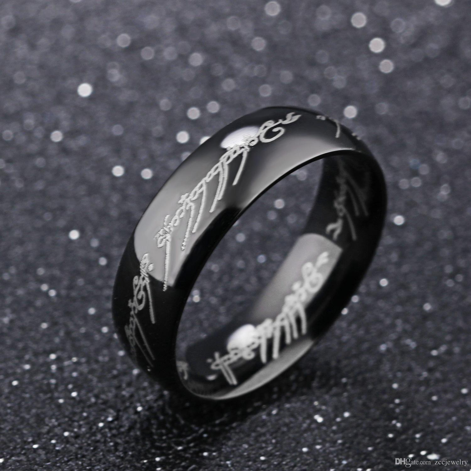 2017 Fashion Charm Jewelry Ring Lord Of The Rings Men Stainless