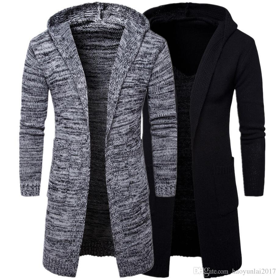 2018 New Designed Men Sweater Long Cardigan For Man Hooded Sweater ...
