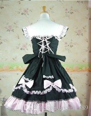 LLT004 Long Sleeveless Sweet Lolita Short Dress Ball Gown Fancy Prom Dress Halloween Party Masquerade Costume