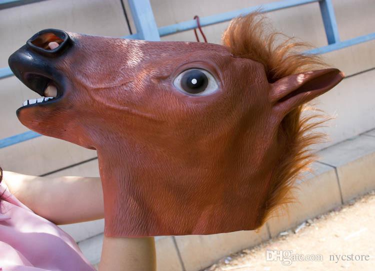 مخيف الحصان رئيس قناع مخيف هالوين زي مسرح الدعامة الجدة قناع اللاتكس المطاط