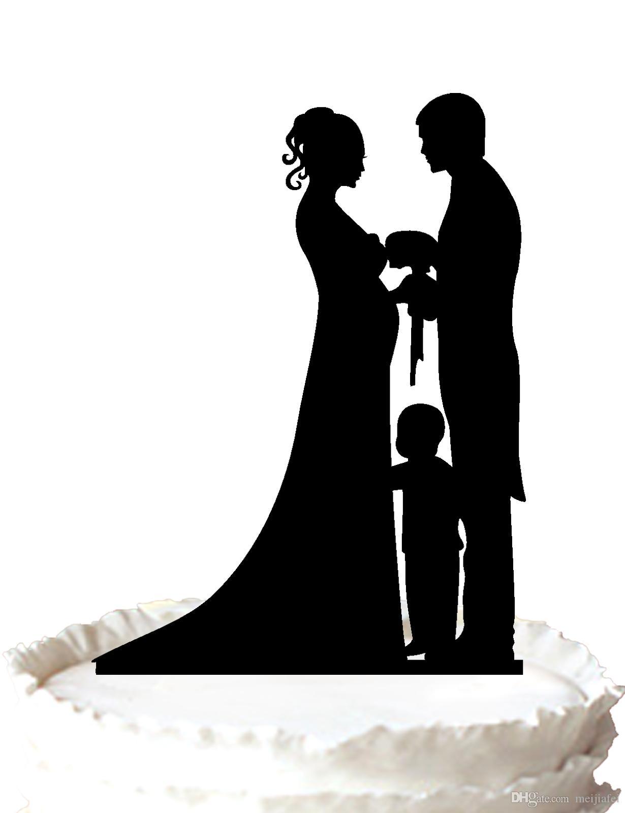 2ebe30b148d La novia y el novio embarazados de Topper del pastel de bodas, un soporte  de topper de la torta del niño pequeño, color 37 para la opción Envío ...