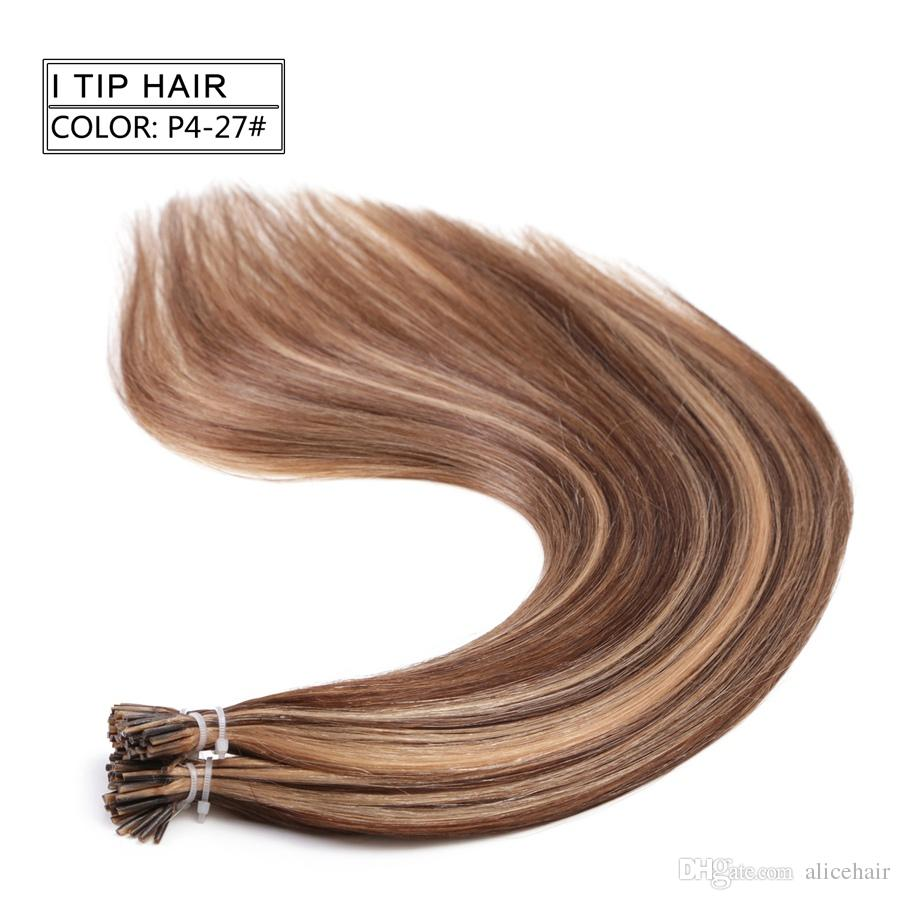 Neitsi 20 Fashion Women Ombre I Tip Pre Bonded Stick Keratin Hair