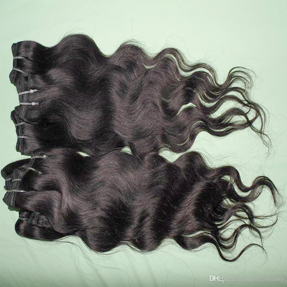 أسعار الجملة المعالجة البشرية الشعر الناعمة البرازيلي الجسم موجة نسج 6 قطعة / الوحدة dhgate الراعي أعلى البائع