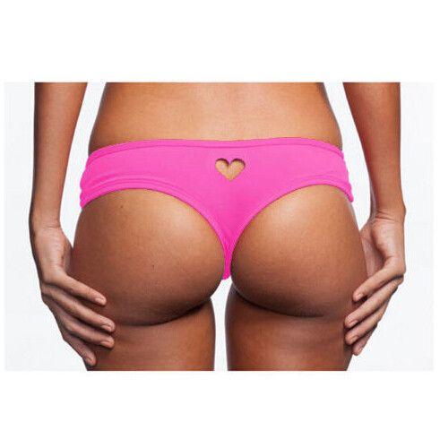 Coeur Trou Thong Bikini Maillots De Bain Mignon Petit Coeur Thong Pour Les Filles Et La Dame Sexy Bikini Bottom Style T Pour Les Femmes