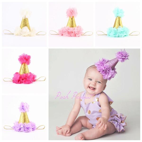 01e99afe4a4 Baby Flower Crown Headbands For Girls Gold Crown Hairband Kids Diy Hair  Accessories Birthday Princess Headbands Newborn Photography Props Flower Girl  Hair ...