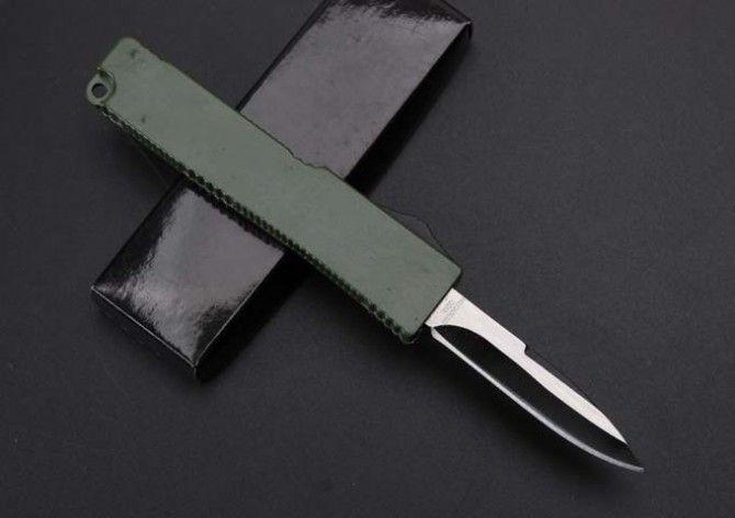 mini Key buckle knife aluminum T6 green black carton fiber plate double action Folding Knives gift knife xmas knife Free shipp