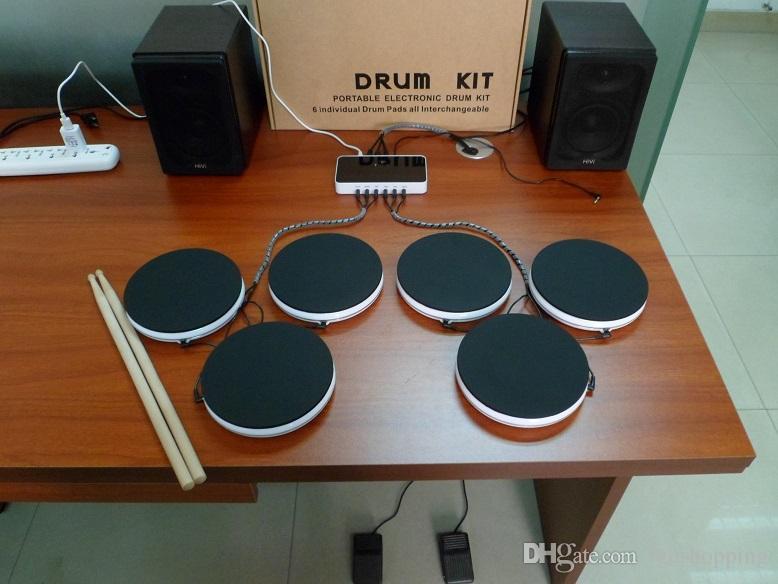 Elettronica Set di batteria Portable Smart Drum Kit Strumenti musicali Drum set Kit batteria elettronica portatile Percussioni Giocattoli Regali