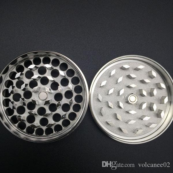 Herb Grinder 55mm 4 layers herb grinder metal Zicn alloy for cnc teeth filter net dry herb vaporizer pen vaporizer vapor