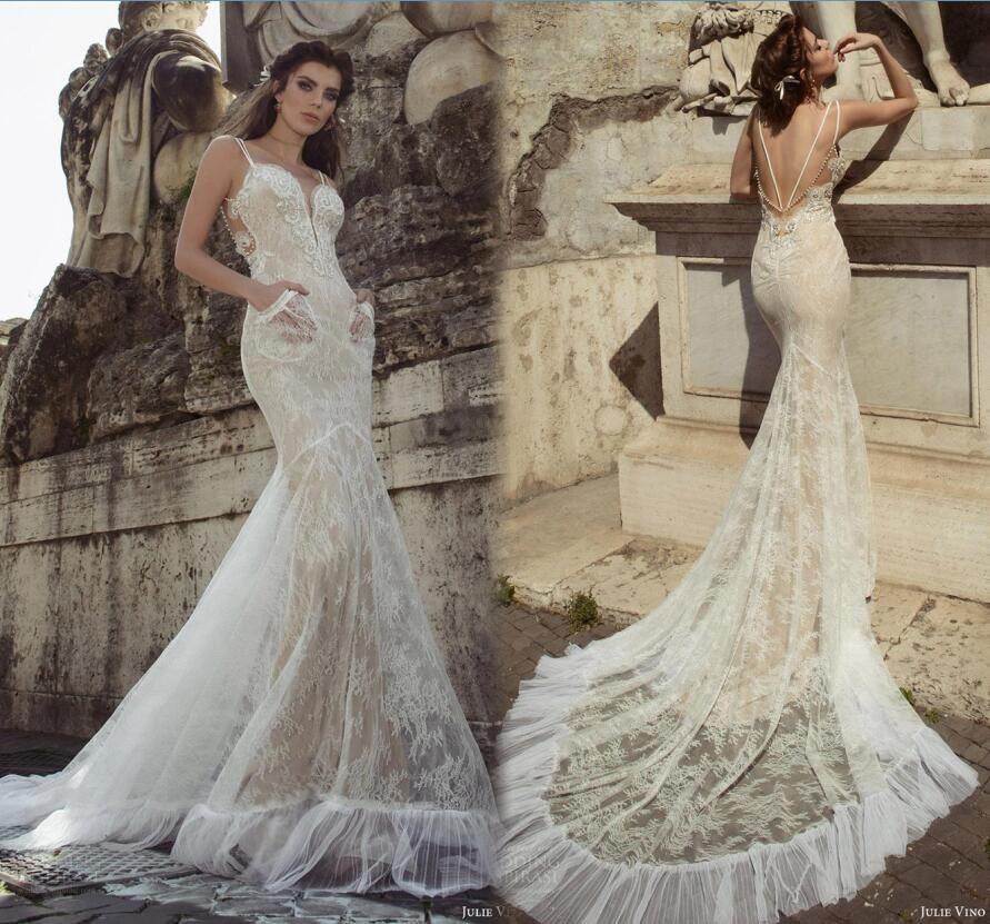 Summer Vintage Wedding Dresses: Julie Vino 2017 Mermaid Wedding Dresses Vintage Full Lace