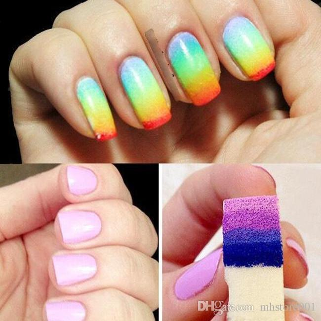 Gradient Nails Soft Sponge Color Fade Natural Magic Simple Creative