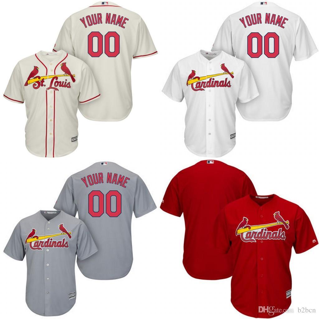Kids' St. Louis Cardinals Customized Gray Jersey