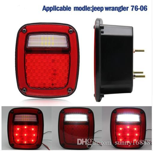 Best Led Taillight Usa Version Led Tail Light Assembly Left For 76 06 Jeep  Cj/Wrangler Yj/Tj Under $160.8 | Dhgate.Com