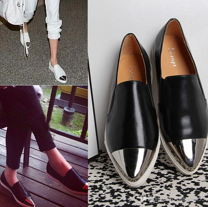 2016 Women Girls Slip On Flat Casual Shoes Pointy Toe Sneakers Loafers Size
