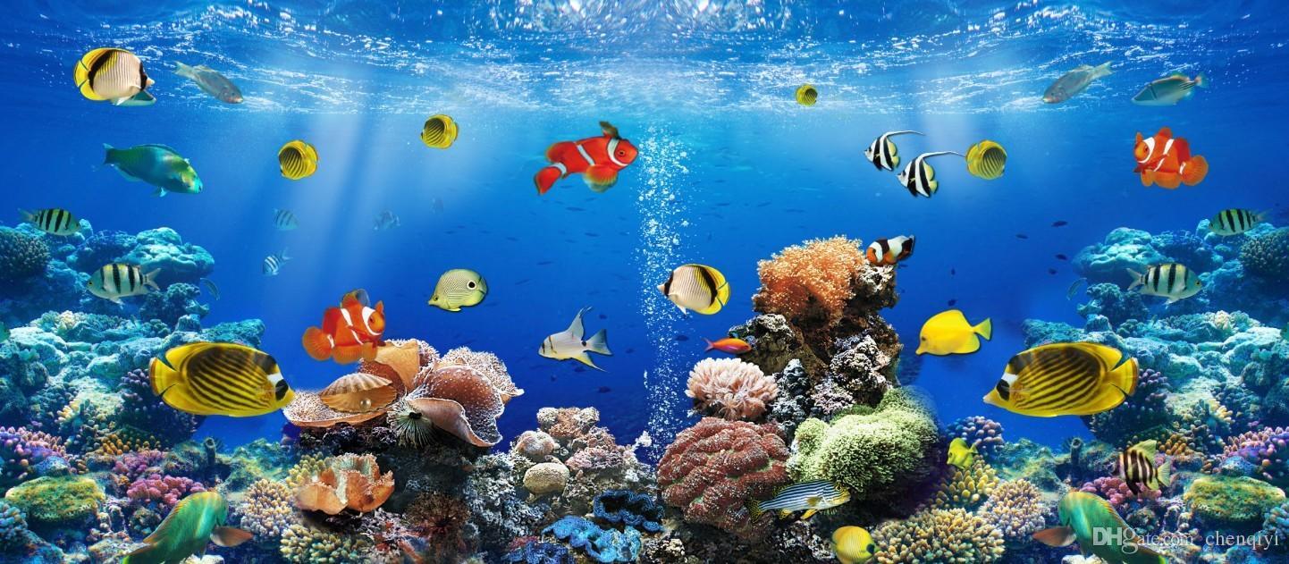 Acquista personalizzati grandi murales carta da parati in for Sfondo animato pesci