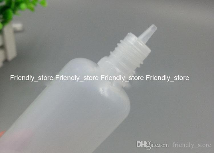 600pcs/lot LDPE Plastic Bottles Wholesales 100ml empty e-cig liquid bottles With tamper evident cap and slim tips free shipping