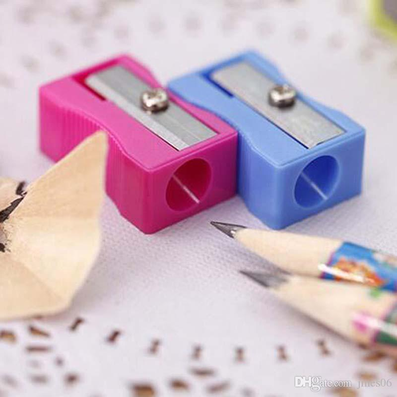High Quality Pencil Sharpener Single Holes Pencil Cutter For Students Writing Painting Stationary Material Escolar