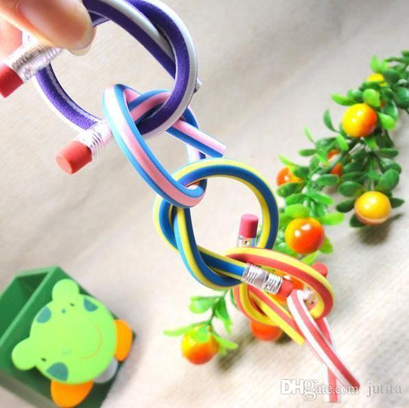 Fun Fashion Favor Colorful Magic Bendy Flexible Soft Pencil With Eraser For Kids Writing High Quality