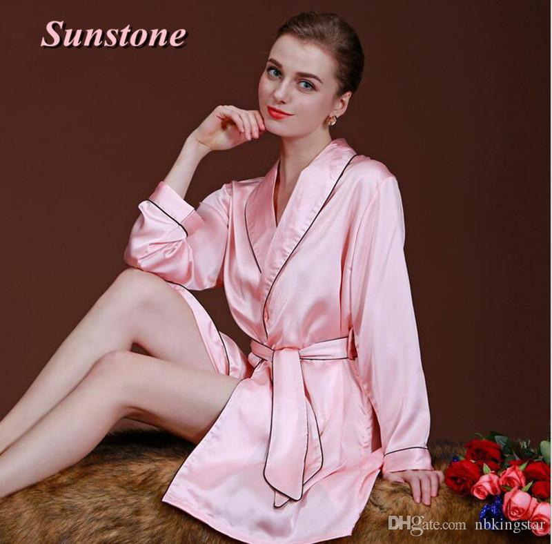 b210c46653 2019 Sexy Women Silk Satin Robe Kimono Robes For Ladies Wedding Bride  Bridesmaid Sleepwear Nightgown Bathrobe Pajamas Dressing Gown Lingerie From  Nbkingstar ...