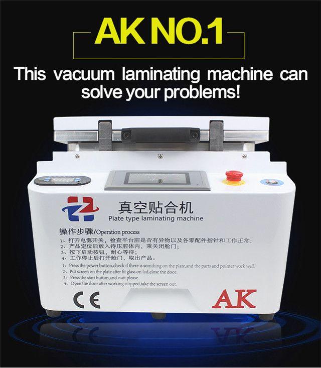 12 zoll AK Platte Typ Laminieren Automatische Sperre Vakuum LCD OCA Laminator Maschine Bubble Remover Maschine Für LCD Reparatur