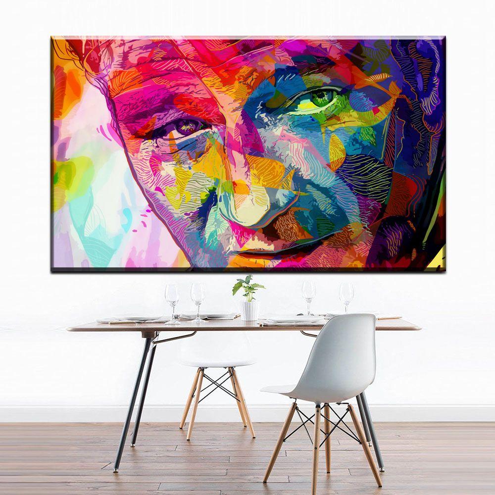 ZZ687 modern pop art watercolor portrait canvas pictures oil art painting for livingroom bedroom decoration unframed wall art