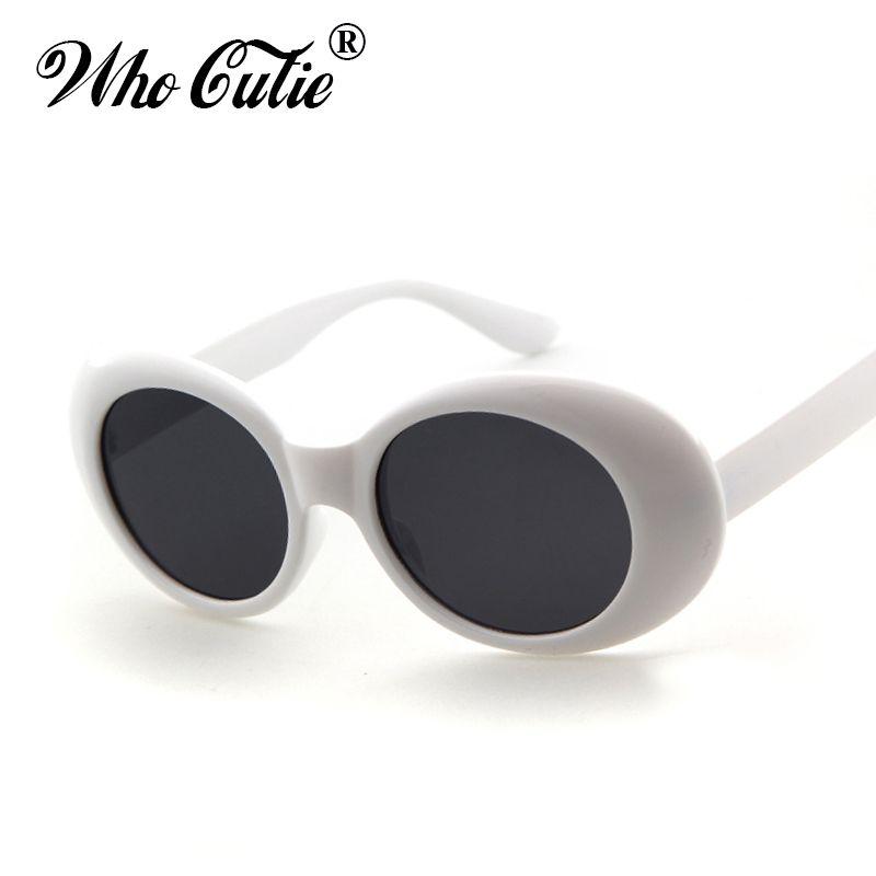 ed6060530af61 Clout Goggles Retro Vintage White Black Oval Sunglasses NIRVANA Kurt Cobain  Glasses Alien Shades 90s White Oval Sunglasses Punk Rock Glasses Wholesale  ...