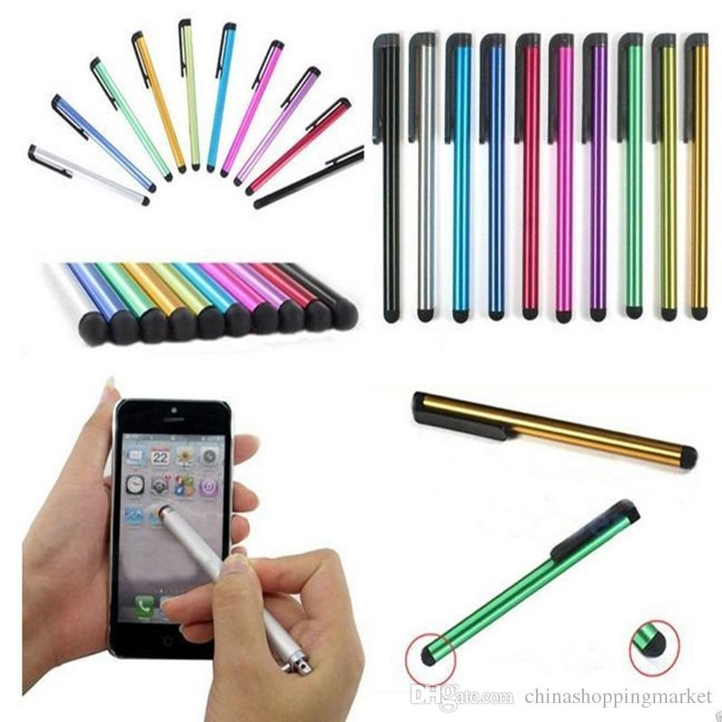 Ipad Iphone Ipod Samsung Silver Lot Of 6 Stylus Touch Pen For Smartphone