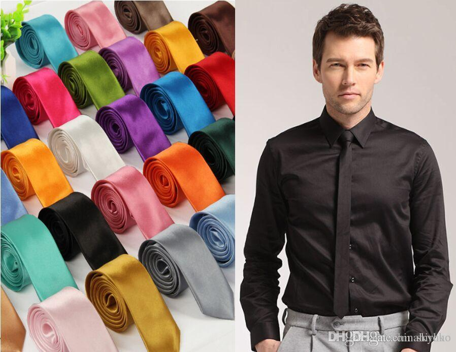 Fashion Men's Tie Narrow version NeckTie 5*145cm 40 colors Occupational tie for Father's Day Men's business tie Christmas Gif