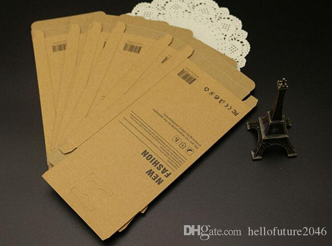 Mobile Phone Case Universal Retail Package Kraft Paper Packaging Box For iPhone 4 5 6 6S Galaxy S4 S5 S6 Case