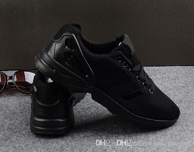 Acheter 2016 Nouveau Zx Flux Tout Noir, Blanc, Rouge, Bleu Chaussures Décontractées Pour Hommes Chaussures Respirantes À Manches Chaussures Pour Hommes 40 ...