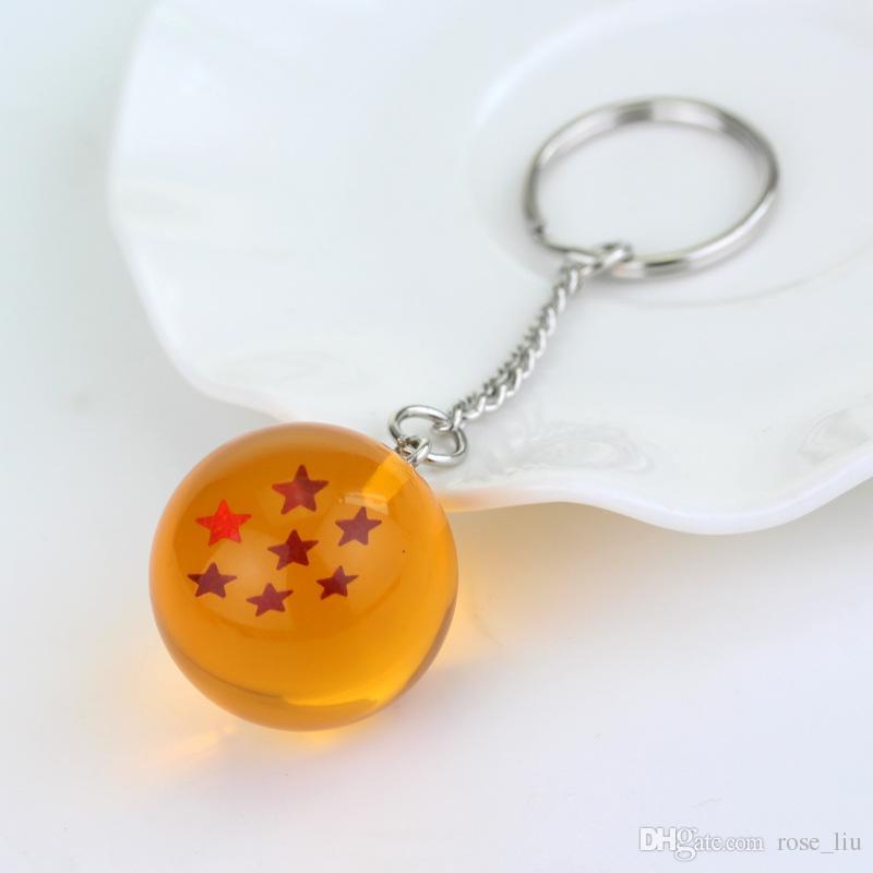 / set 2.5cm Dragon Ball Z Nouveau Dans Le Sac 7 étoiles Boules De Cristal PVC Chiffres Jouets Porte-clés Pendentif 1 2 3 4 5 6 7 étoiles Ensemble complet