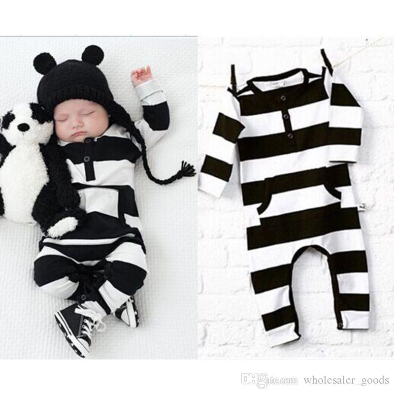 dac5e854b Ropa de bebé Bebé recién nacido Bebé Niño Niña Niños Algodón Mameluco mono  Traje Ropa Ropa de manga larga Mono Ropa de invierno para niños