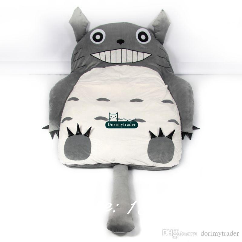 어린이 선물을위한 Dorimytrader 가와이이 일본 애니메이션 내 이웃 토토로 스타일 만화 콩 주머니 다다미 소파 매트리스 190cm X 130cm DY61094
