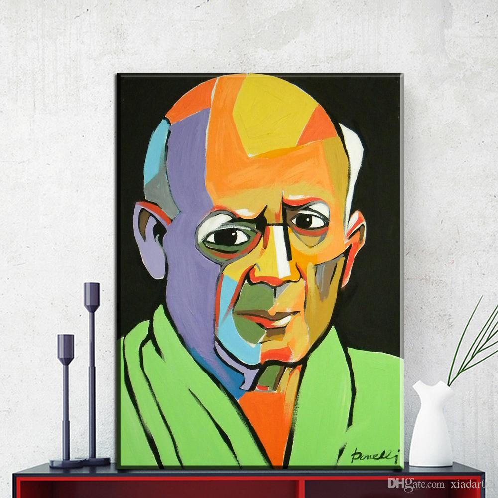 2019 Zz1158 Modern Abstract Portrait Canvas Art Pablo