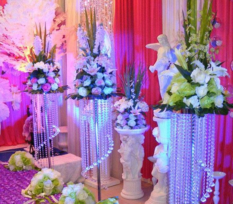 Großverkauf beste Verkauf Hochzeit Tischdekoration Hochzeit Dekoration Acryl Kristall Kronleuchter Hochzeit Straße führen Ereignis Party Dekoration