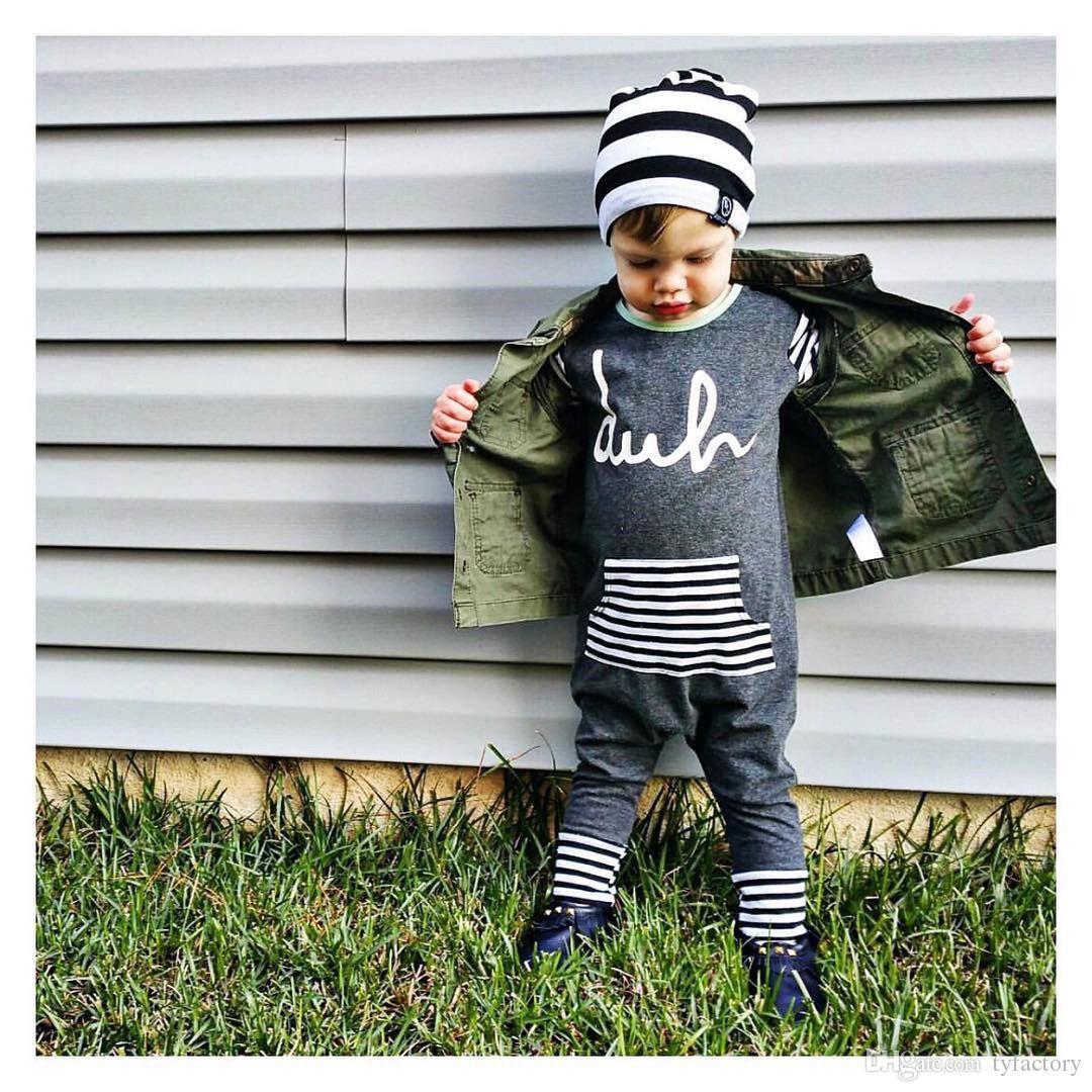 hot sale casual baby suit Kids children Boy Girl Striped Cotton long sleeve Romper spring autumn fashion Jumspuit Playsuit Outfit Clothes