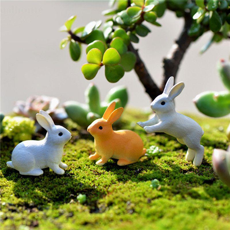 2019 New Rabbit Ornament Miniature Figurine Fairy Garden Decor Home