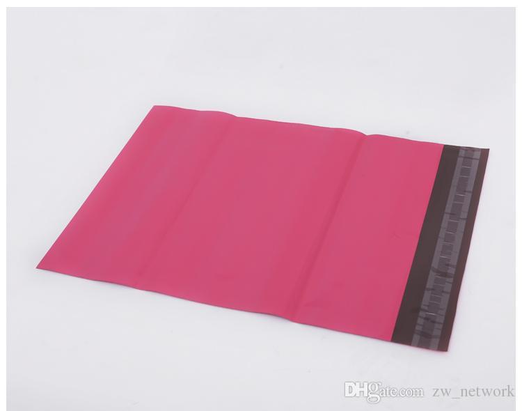 / Pink Poly Mailer 10 * 13 pouces Sac Express 25 * 35cm Sacs de courrier Enveloppe / Joint auto-adhésif Sac de sacs en plastique