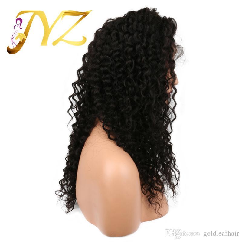 Parrucche anteriori del merletto di alta qualità Brasiliano malese peruviano 130% densità merletto svizzero ricci parrucche piene del merletto capelli ricci profondi