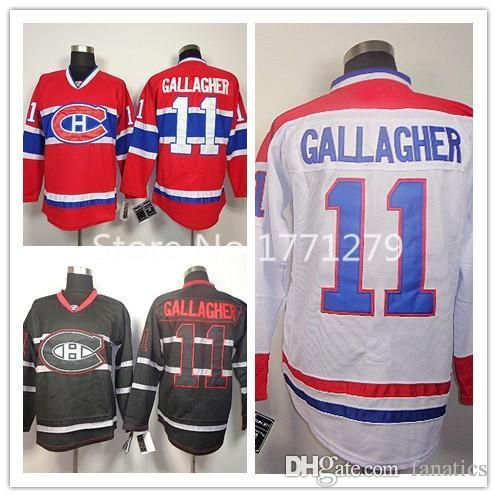 5683c7e02 2019 Cheap Montreal Canadiens Hockey Jerseys  11 Brendan Gallagher Jersey  Home Red Road White Black Ice Jerseys From Fanatics
